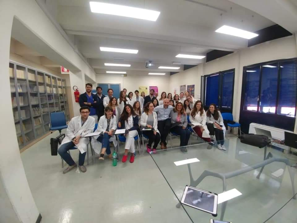2019.5.2 Il team Dermafed con il prof Lallas per l\'hospital meeting sulle lesioni cutanee pigmentate e non.