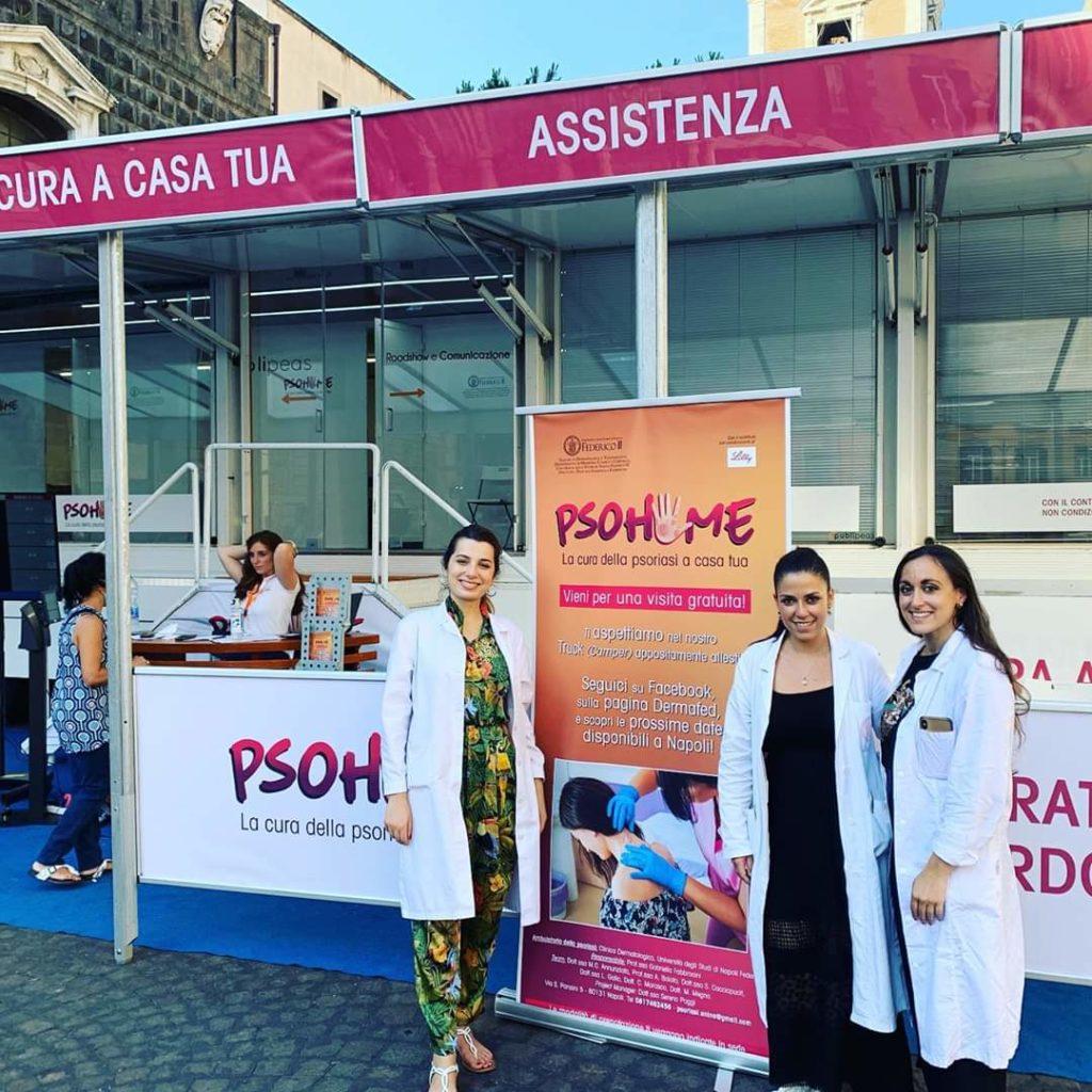 2020.7.10. PsoHome visite gratuite nelle piazze della città per i pazienti con psoriasi.
